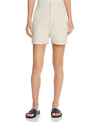 Vince High Waisted Chino Shorts Bleached