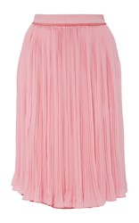 Carven Crepe Pleated Skirt Pink