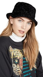 Kate Spade New York Shearling Bucket Hat Black