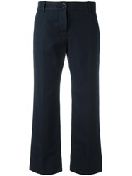 Aspesi Cropped Trousers Blue