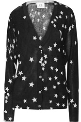 Banjo And Matilda Printed Silk And Cashmere Blend Cardigan Black