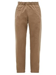 Mhl By Margaret Howell Elasticated Waist Cotton Trousers Khaki