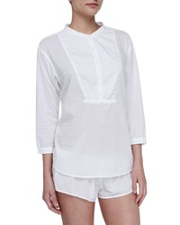 Xirena Shaya Cotton Poplin Lounge Shorts White