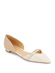Enzo Angiolini Aila Leather Colorblock D'orsay Flats Light Beige