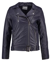 Sparkz Jacky Faux Leather Jacket Navy Dark Blue