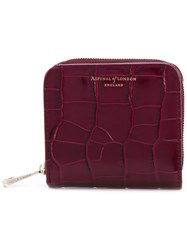 Aspinal Of London Croc Effect Purse Women Leather One Size Red