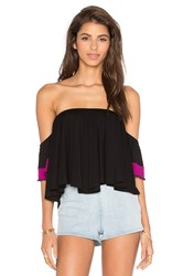 Vava By Joy Han Yoori Off Shoulder Top Black