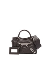 Balenciaga Metallic Edge Mini City With Nickel Hardware In Black