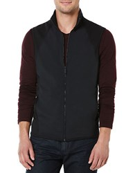 Perry Ellis Big And Tall Zip Front Vest Black