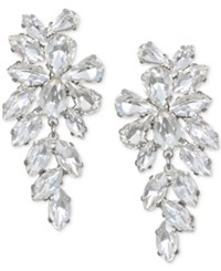 Jewel Badgley Mischka Crystal Arch Drop Earrings Silver