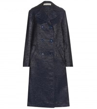 Nina Ricci Embossed Coat Blue