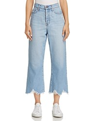Nobody Frayed Cuff Wide Leg Jeans In Carefree