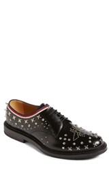 Gucci Men's Beyond Star Studded Derby Black Silver Multi