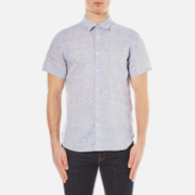 Orlebar Brown Men's Meden Short Sleeve Shirt Navy