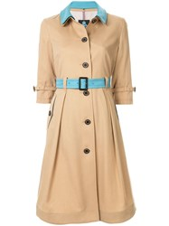 Guild Prime Contrast Belted Trench Coat Neutrals