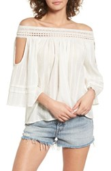 Sun And Shadow Women's Off The Shoulder Top