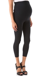 David Lerner Maternity Cropped Leggings Black