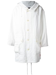 Ann Demeulemeester Blanche Hooded Oversized Coat White