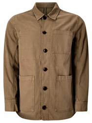John Lewis And Co. Canvas Workwear Jacket Sand