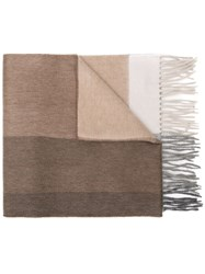 Begg And Co Fringed Edge Scarf Neutrals