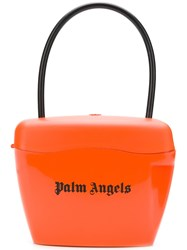 Palm Angels Logo Top Handle Tote Yellow And Orange