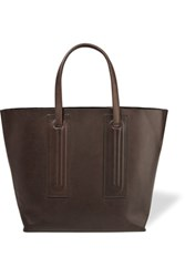 Rick Owens Small Shopper Leather Tote Dark Brown