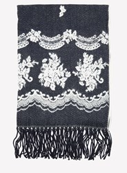 Dorothy Perkins Navy Lace Blanket Scarf Blue
