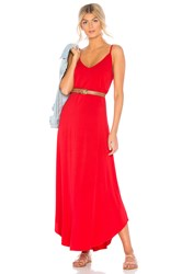 Michael Stars Rylie Reversible Maxi Dress Red
