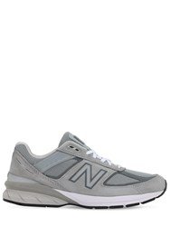 New Balance 990 V5 Suede And Mesh Sneakers Grey