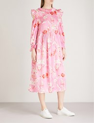 Shrimps Nico Silk Satin Dress Pink