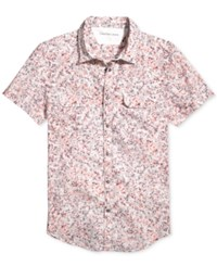 Calvin Klein Jeans Men's Kaleidoscope Abstract Print Shirt Charged Coral