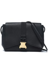 Christopher Kane Textured Leather Shoulder Bag Black