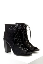 Forever 21 Lace Up Faux Suede Booties
