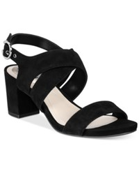 Alfani Women's Regann Block Heel Sandals Only At Macy's Women's Shoes Black