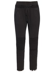 Haider Ackermann Perth Contrast Panel Cotton Blend Track Pants