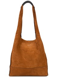 Rag And Bone 'Walker' Shopper Tote Bag Women Leather One Size Brown