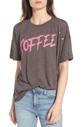 Wildfox Couture Women's Coffee Destroyed Tee Carbon Brown
