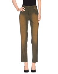 Theyskens' Theory Trousers Casual Trousers Women Military Green