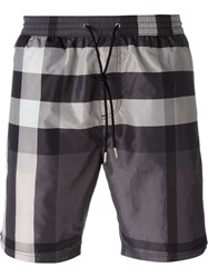 Burberry Brit Checked Swim Shorts Grey