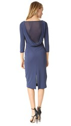 St Olcay Gulsen Drape Back Dress Indigo