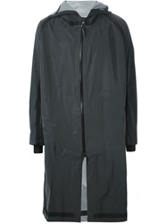 11 By Boris Bidjan Saberi Hooded Zipped Coat Grey