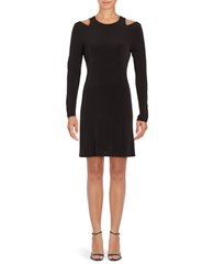 Ivanka Trump Cold Shoulder A Line Dress Black