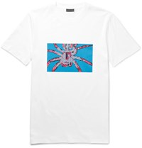 Lanvin Spider Print Cotton Jersey T Shirt White