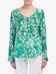 Lily And Lionel Eden Forget Me Knot Print Top Green