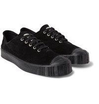 Comme Des Garcons Shirt Spalwart Special V Low Rubber Trimmed Suede Sneakers Black