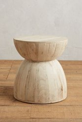 Anthropologie Betania Side Table Hourglass White