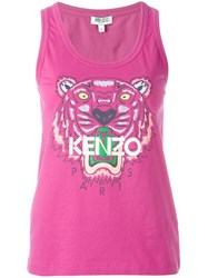 Kenzo Tiger Tank Top Pink Purple