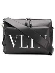 Valentino Garavani Vltn Print Shoulder Bag Black