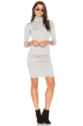 Velvet By Graham And Spencer Lordes Midi Dress Light Gray
