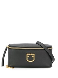 Furla Logo Plaque Belt Bag Black